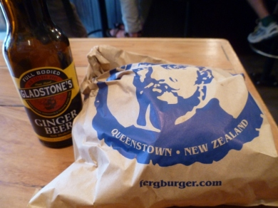 Gladstone's Ginger Beer at Fergburger, Queenstown.