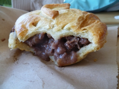 Venison pie from the famous Miles Better Pies, Te Anau.
