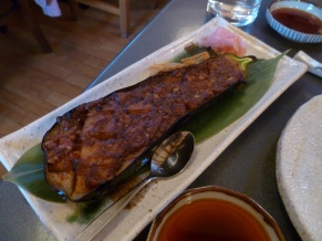 Grilled eggplant at Kappa Sushi Cafe, Queenstown.