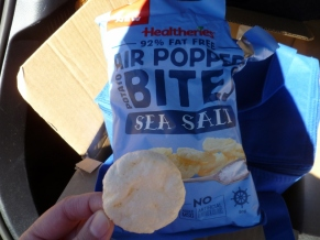 Awesome air-popped chips on the way to Glenorchy.