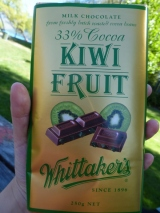 Kiwi fruit Whittaker's chocolate in Glenorchy.