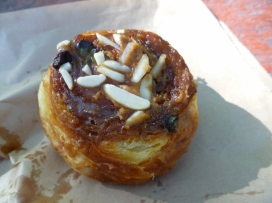 One of the famous sticky buns from Provisions, Arrowtown.