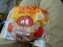 One of the many Cookie Time cookies consumed during our travels!