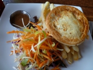 Another venison pie at The Landing, Franz Josef.