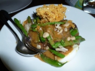 Penang curry of beef cheeks with green beans and fish crackling at King of Snake, Christchurch.